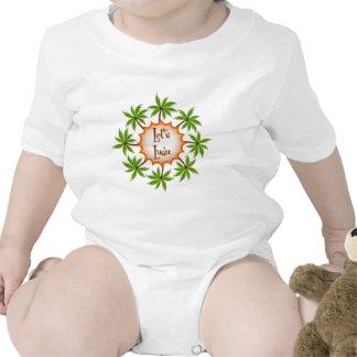 Palm Circle Luau T-shirt