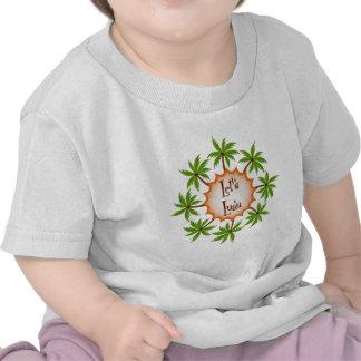 Palm Circle Luau T Shirts