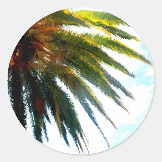 Palm Classic Round Sticker