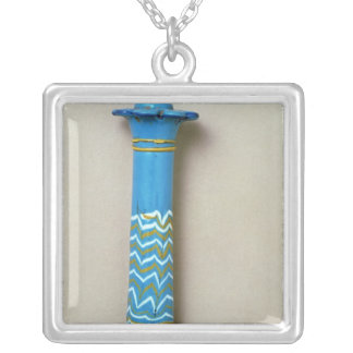 Palm column kohl flask, from Amarna Silver Plated Necklace