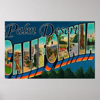 Palm Desert, California - Large Letter Scenes Poster