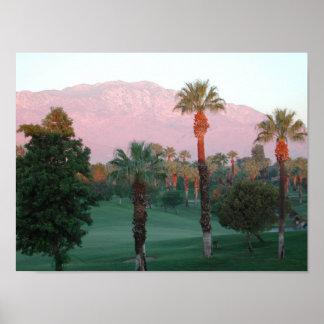 Palm Desert en el poster de la puesta del sol