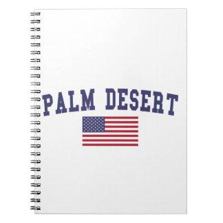 Palm Desert US Flag Notebook