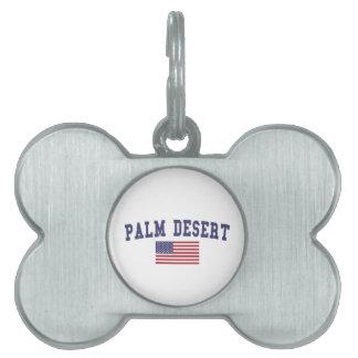 Palm Desert US Flag Pet ID Tag