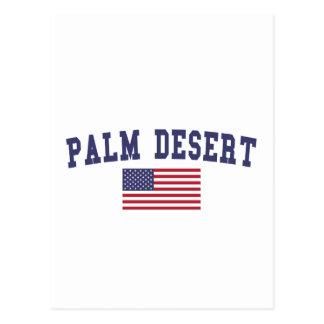 Palm Desert US Flag Postcard