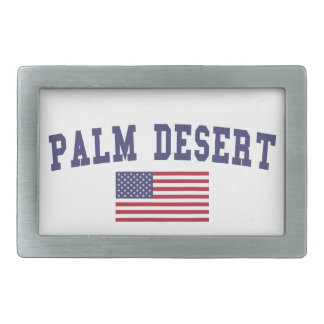 Palm Desert US Flag Rectangular Belt Buckle