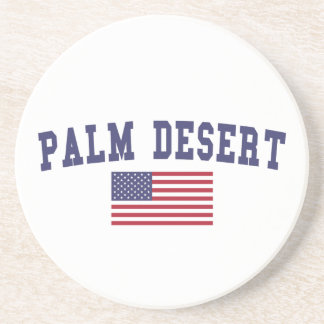 Palm Desert US Flag Sandstone Coaster