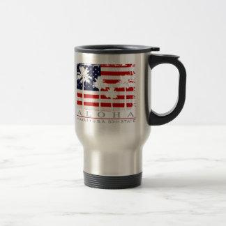 Palm Flag Hawaii 50th State Travel Mug