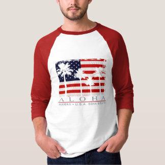 Palm Flag Hawaii Men's T-Shirts