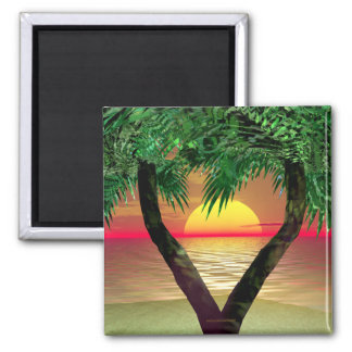 Palm Frame 2 Inch Square Magnet