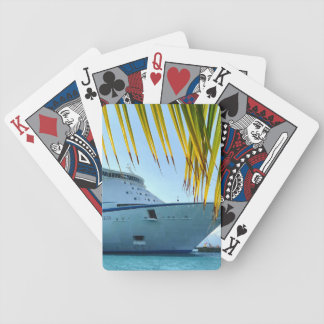 Palm Framed Bow Bicycle Playing Cards