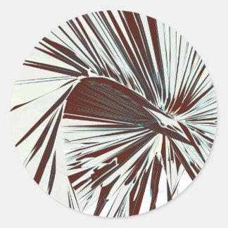 Palm Frond Classic Round Sticker