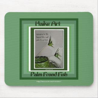 Palm Frond Fish Haiku Art Mousepad