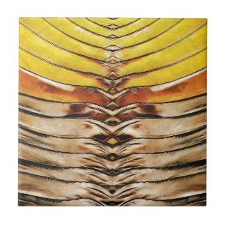 Palm Frond Leaf Macro Ceramic Tile