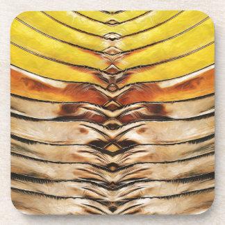 Palm Frond Leaf Macro Drink Coaster