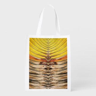 Palm Frond Leaf Macro Grocery Bag