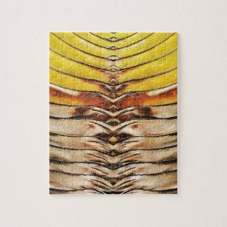Palm Frond Leaf Macro Jigsaw Puzzle