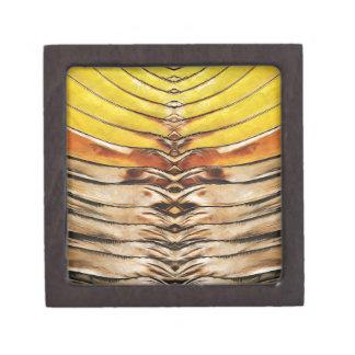 Palm Frond Leaf Macro Keepsake Box