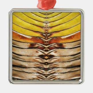 Palm Frond Leaf Macro Metal Ornament