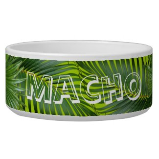Palm Frond Leaves Pet's Name Dog Cat Dish