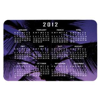 Palm Frond Silhouette; 2012 Calendar Rectangular Photo Magnet