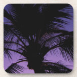Palm Frond Silhouette Beverage Coasters