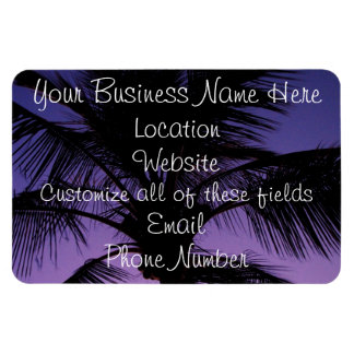 Palm Frond Silhouette Rectangular Photo Magnet