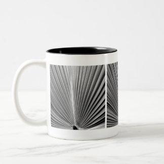 palm frond Two-Tone coffee mug