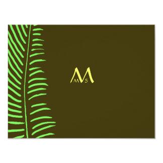 Palm Frond Wedding RSVP Card