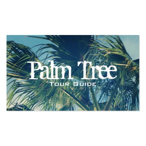Palm Fronds Business Card Template