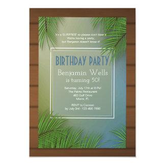 Palm Fronds Invitation