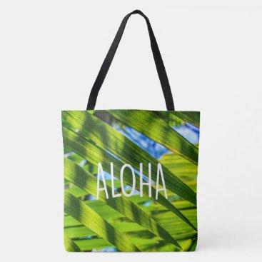 Beach Themed Palm Fronds, Kauai, Aloha Hawaiian Beach Bag