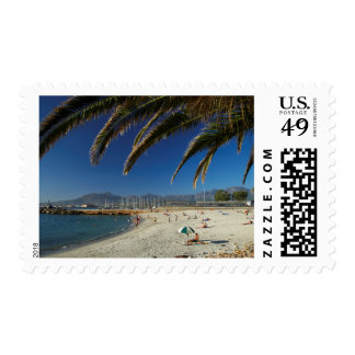 Palm Fronds Over Beach At Gordon's Bay Postage