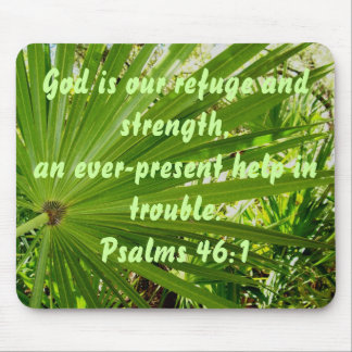 Palm Fronds Psalms 46:1  Mousepad