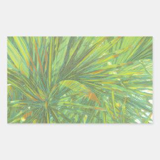 Palm Fronds Rectangular Sticker