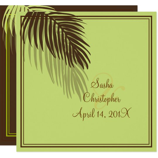 PALM FRONDS SILHOUETTE/DIY background Card