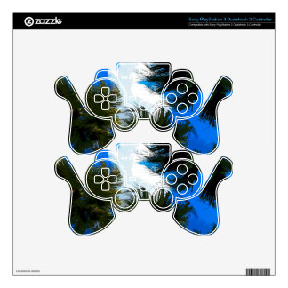 Palm Fronds Skins For PS3 Controllers