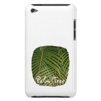 Palm Fronds with Palm Tree white text tropical Barely There iPod Case