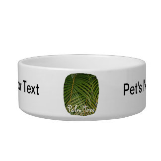 Palm Fronds with Palm Tree white text tropical Bowl