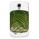 Palm Fronds with Palm Tree white text tropical Samsung Galaxy S4 Case