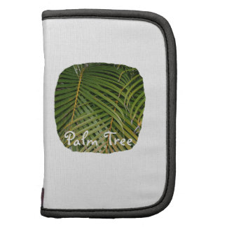 Palm Fronds with Palm Tree white text tropical Organizer