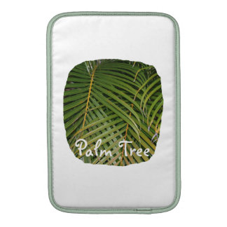 Palm Fronds with Palm Tree white text tropical Sleeve For MacBook Air