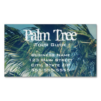 Palm Fronds Magnetic Business Cards