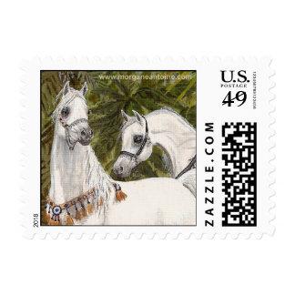 Palm Grove Arabian horse samll postage stamp