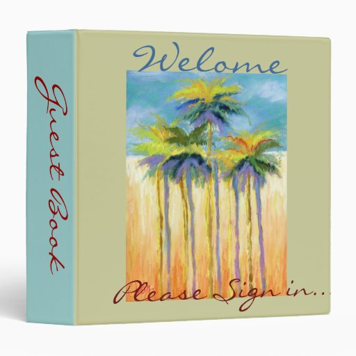 Palm-Guest book binder