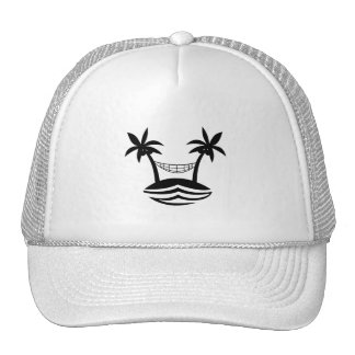 palm hammock beach smile blk png hat