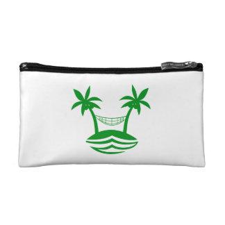 palm hammock beach smile green png makeup bag