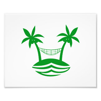 palm hammock beach smile green.png photographic print