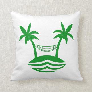 palm hammock beach smile green.png pillow