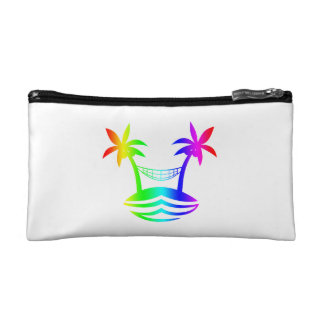 palm hammock beach smile rainbow.png cosmetic bag